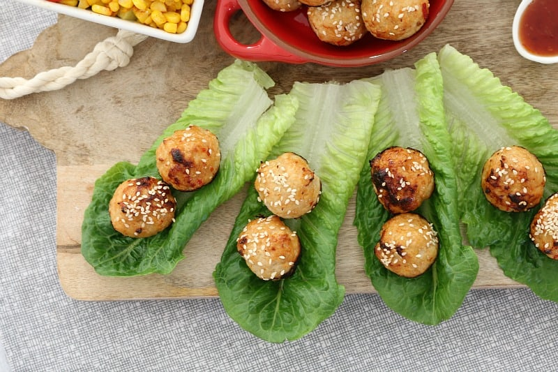 Oven Baked Thai Chicken Meatballs