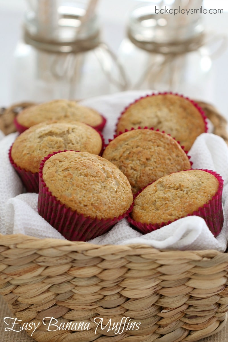 Easy Banana Muffins that take no time at all to prepare… and taste ...