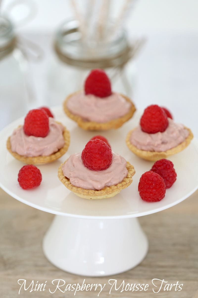 Mini Raspberry Mousse Tarts