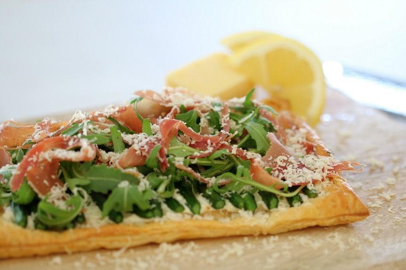 Ricotta, Asparagus & Prosciutto Tart