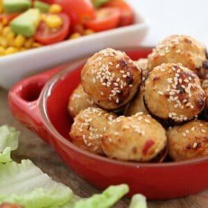 Oven Baked Thai Chicken Meatballs