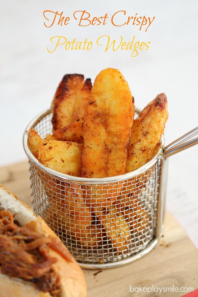 The Best Crispy Potato Wedges Bake Play Smile