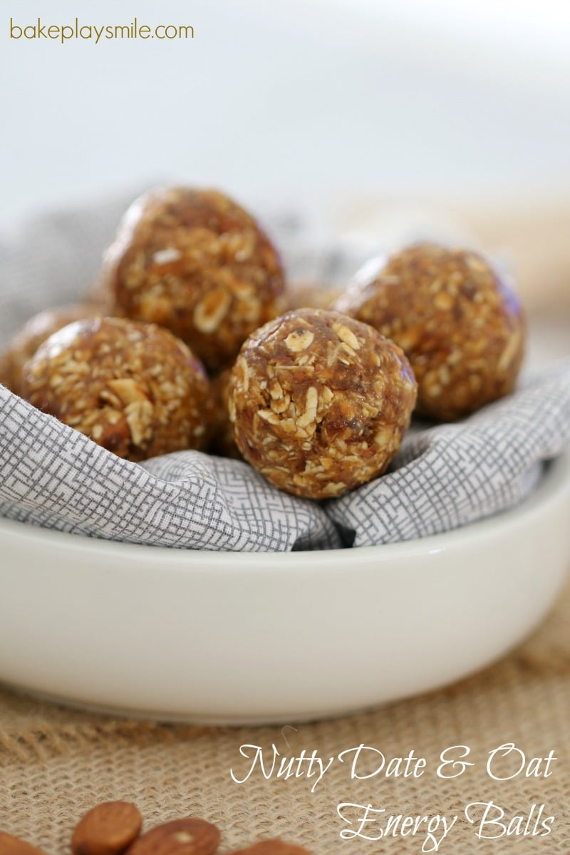 Nutty Date & Oat Energy Balls
