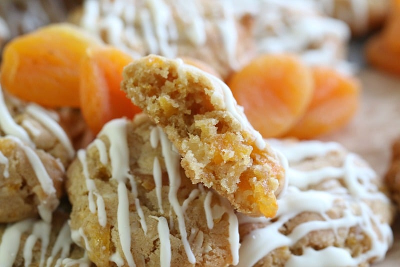 Apricot, Macadamia & White Chocolate Oat Cookies