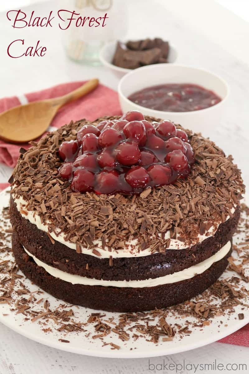 This Easy Black Forest Cake is made with the most delicious layers of ...