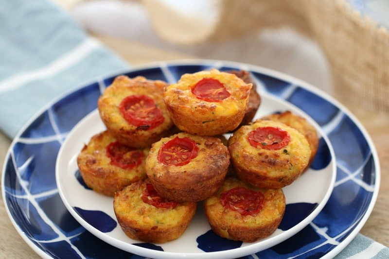 Mini Vegetable & Ham Muffins 2