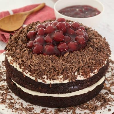 Easy Black Forest Cake | Chocolate, Cherries & Cream