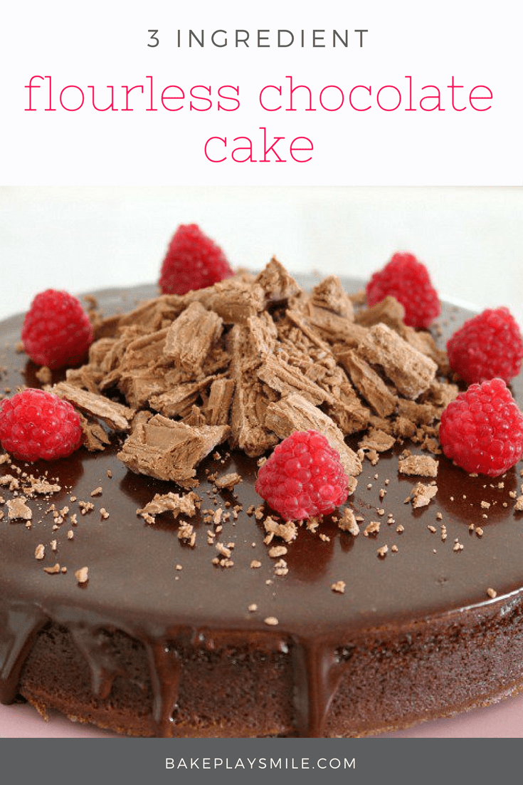 Super Easy 3 Ingredient Flourless Chocolate Cake