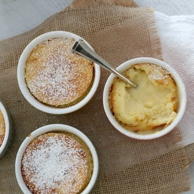 Creamy Mini Lemon Puddings