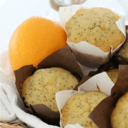 Orange & Poppy Seed Muffins with Syrup
