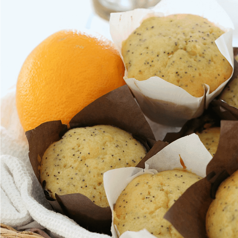 Orange & Poppy Seed Muffins with Syrup - Bake Play Smile