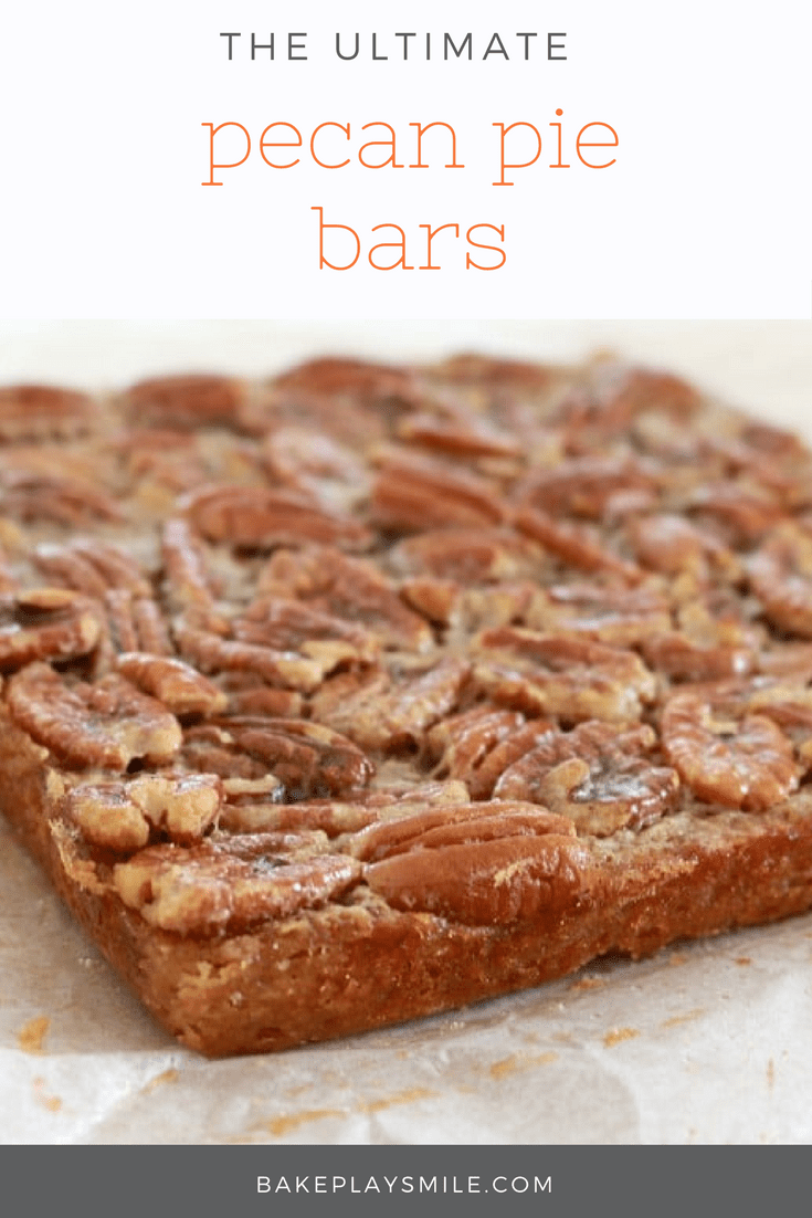 The yummiest, easiest Pecan Pie bars ever.. enjoy at anytime of the ...