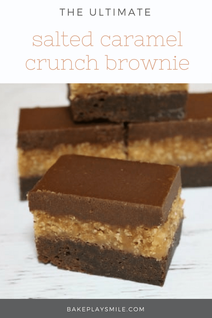 Salted Caramel Crunch Brownie