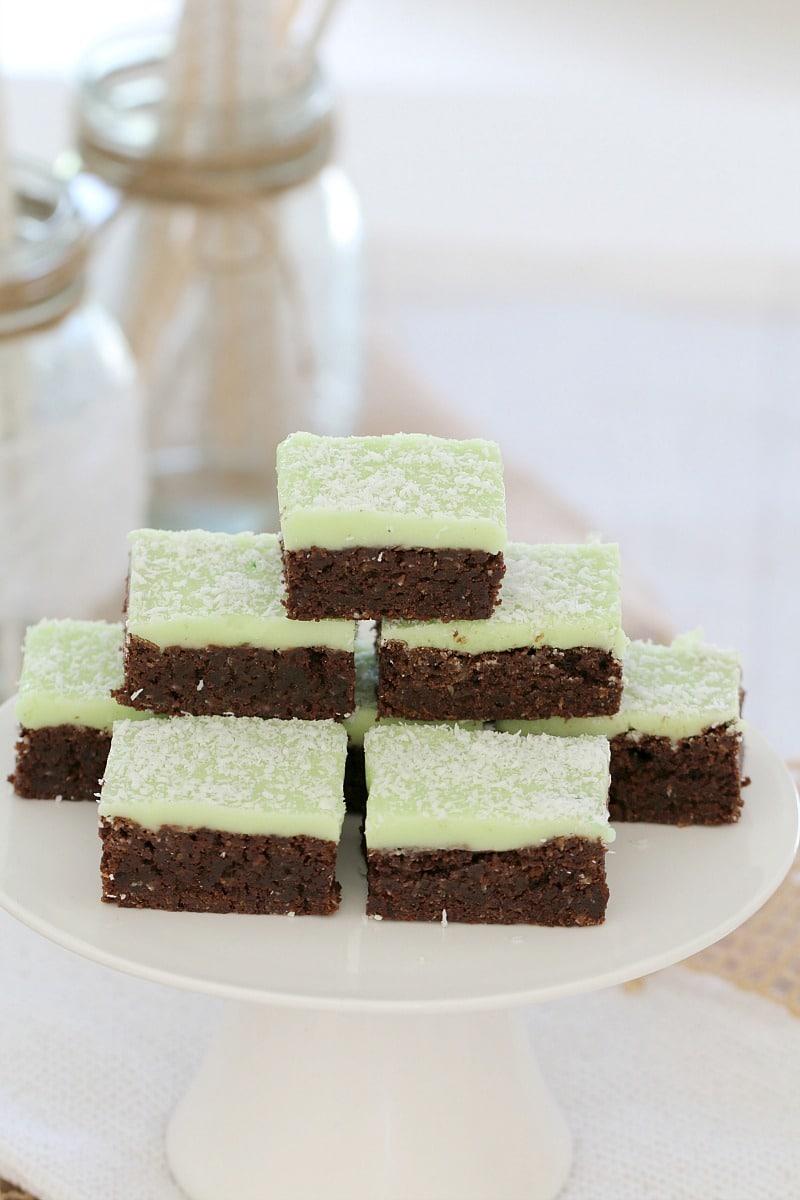 Chocolate Mint Slice