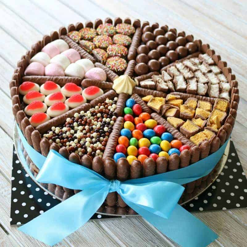 Cool Easy Chocolate Birthday Cake Lollies Chocolates More Bake Funny Birthday Cards Online Inifodamsfinfo