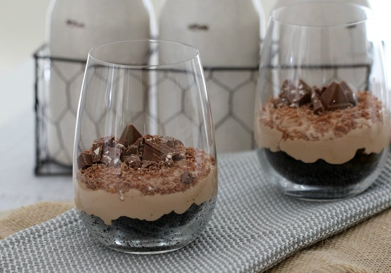 No Bake Toblerone Cheesecakes