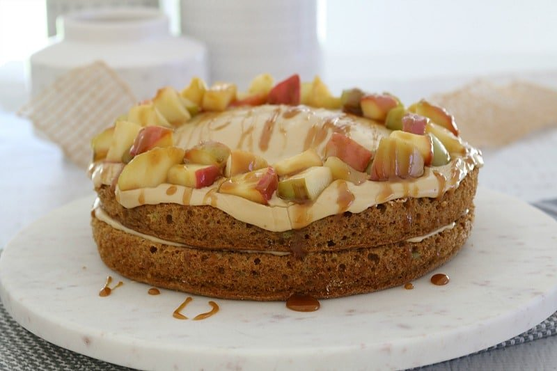 Easy Apple & Caramel Cake