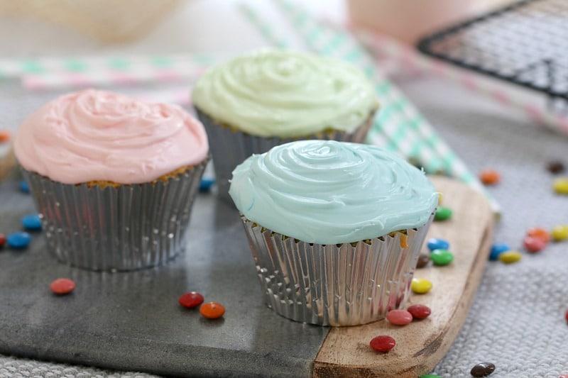 Surprise M&M Cupcakes