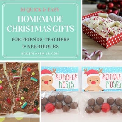 10 Quick & Easy Homemade Christmas Gifts for Teachers, Friends & Neighbours