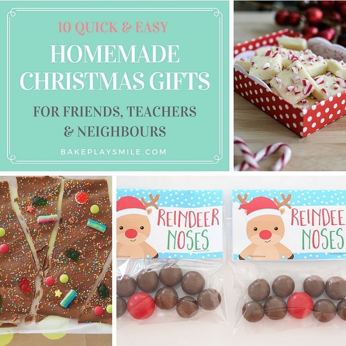 10 Quick & Easy Homemade Christmas Gifts For Teachers