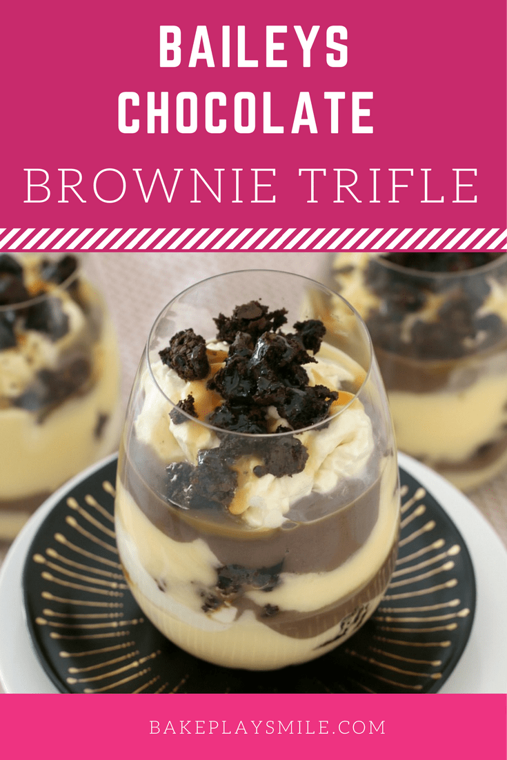 Baileys Chocolate Brownie Trifle