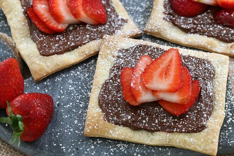 3 Ingredient Nutella & Strawberry Pastries