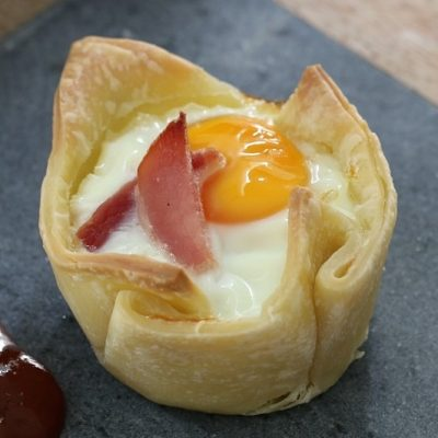 3 Ingredient Egg and Bacon Pies
