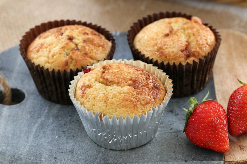 Strawberry, Banana & Yoghurt Muffins