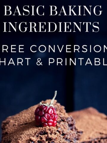 Baking Conversion Chart - Cups, Metric & Imperial (+ free printable)