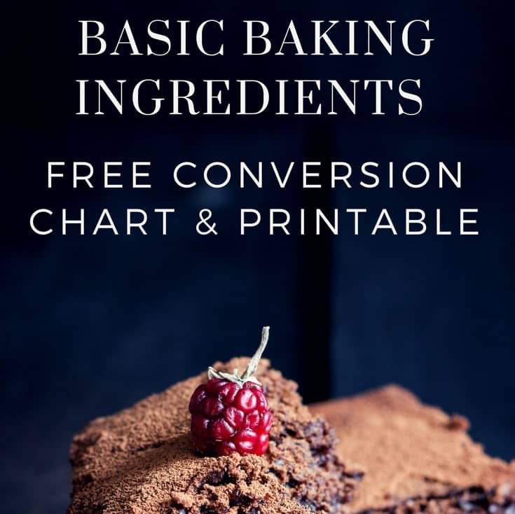 Baking Conversion Chart Cups Metric Amp Imperial Free