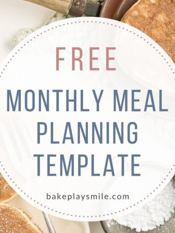 FREE Monthly Meal Planning Template