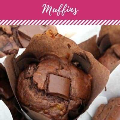 Healthy Banana & Double Chocolate Chunk Muffins