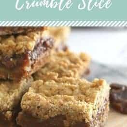 Oat & Date Crumble Slice