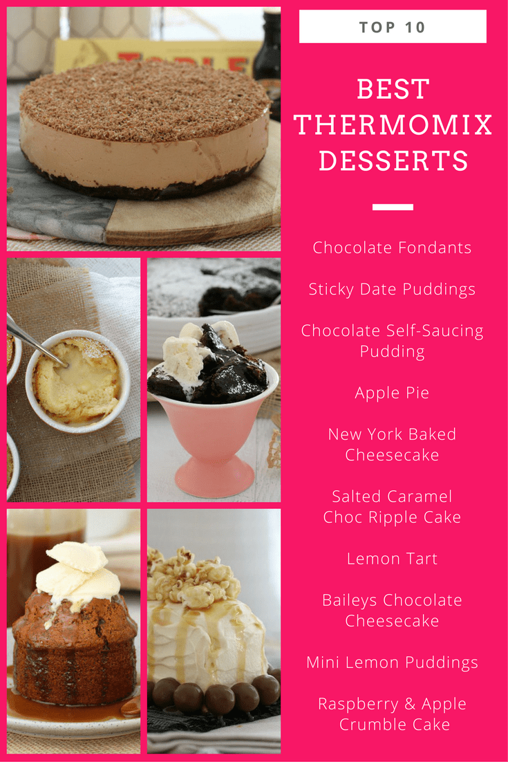 A collage of photos of Best Thermomix Desserts
