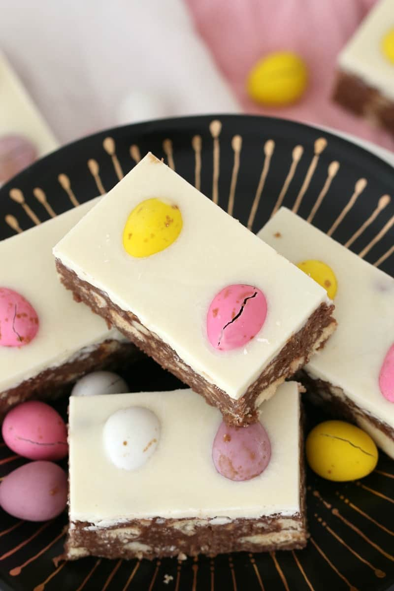 Chocolate Hedgehog Easter Slice Easy No Bake Recipe