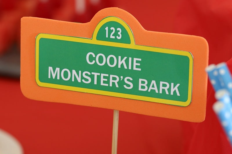 A sign saying Cookie Monster\'s Bark
