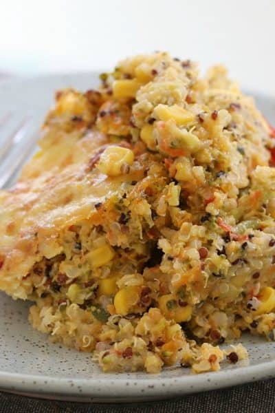 Creamy, Cheesy Vegetable Quinoa Bake