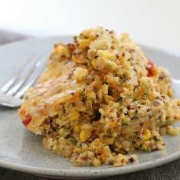 reamy, Cheesy Vegetable Quinoa Bake