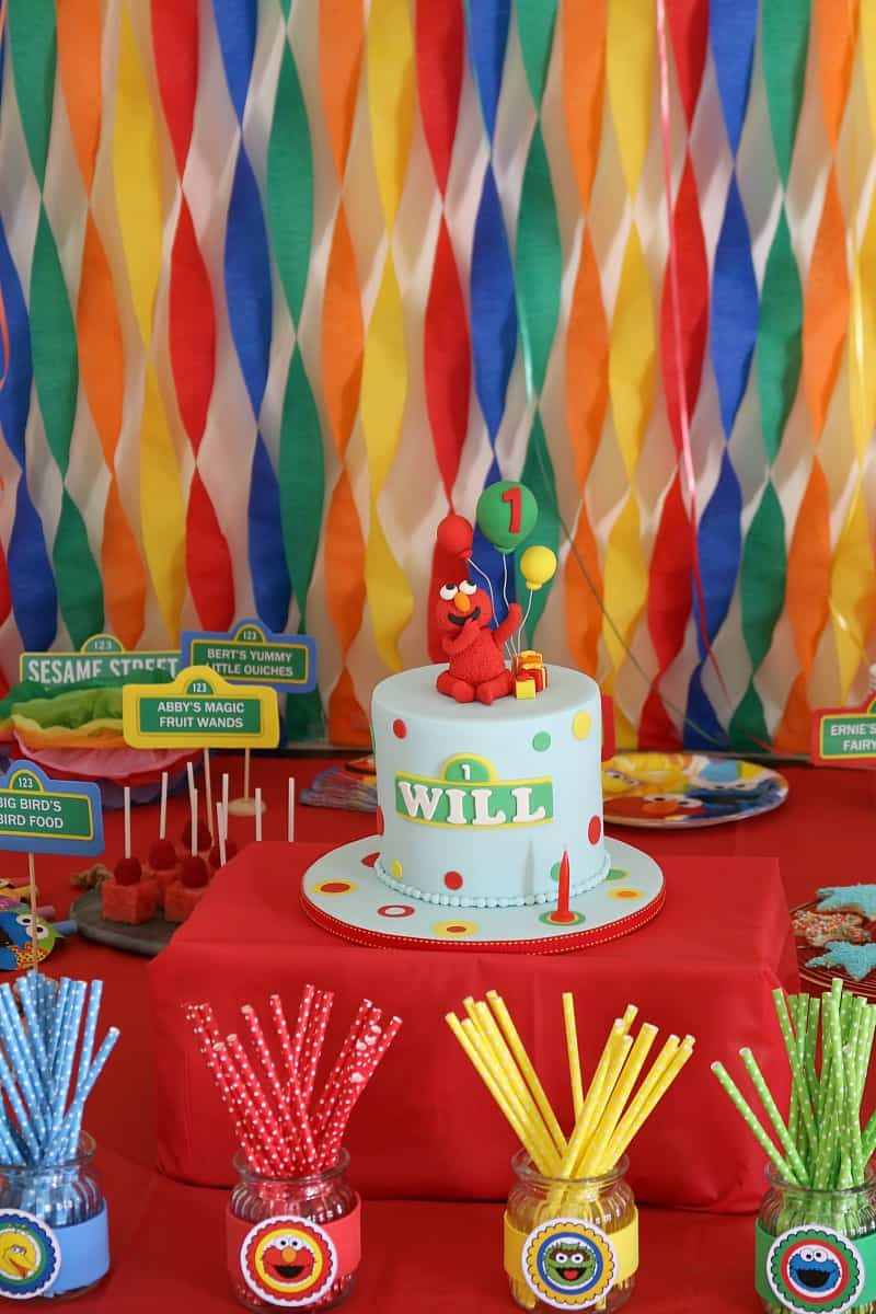 Planning a Sesame Street Party decorations party food cake more