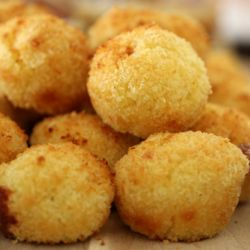 Cheesy Oven Baked Arancini Balls