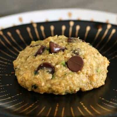 Healthy Zucchini, Oat and Chocolate Chip Cookies
