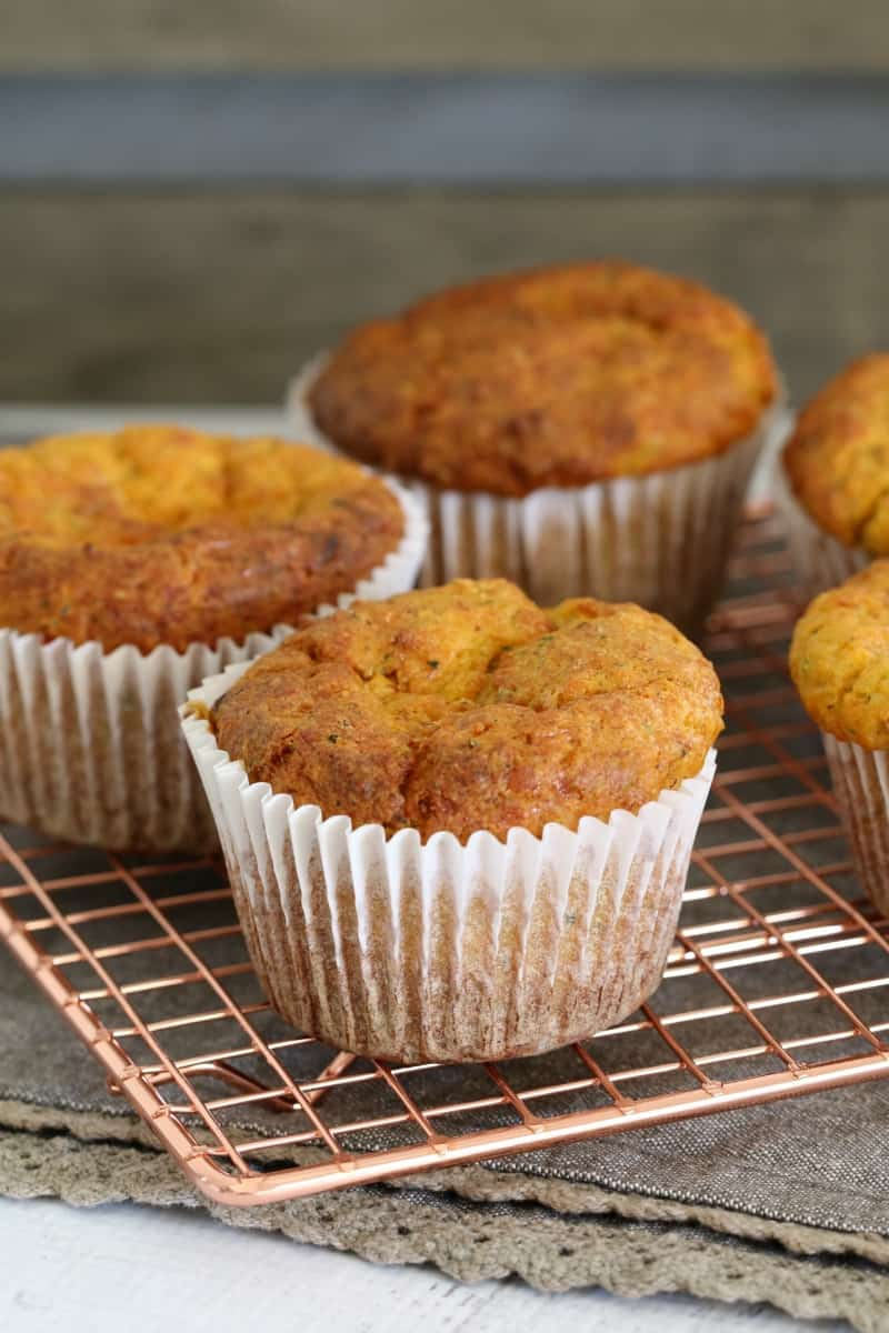 how to make zuchinni and ham muffins