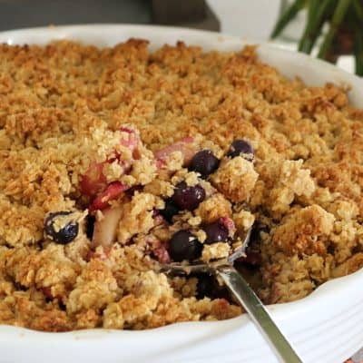The Ultimate Apple Blueberry Crumble (super easy recipe!)