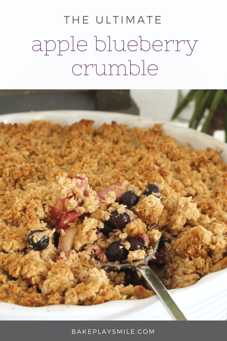 the ultimate apple blueberry crumble super easy recipe. Black Bedroom Furniture Sets. Home Design Ideas