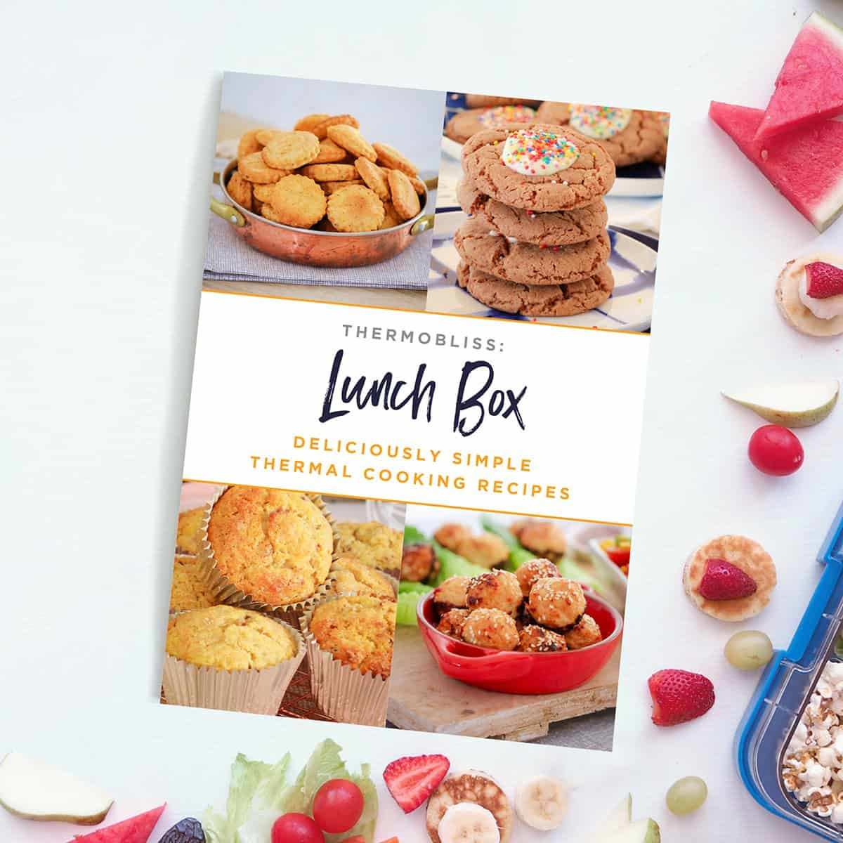 A Lunch Box recipe book with photos of food