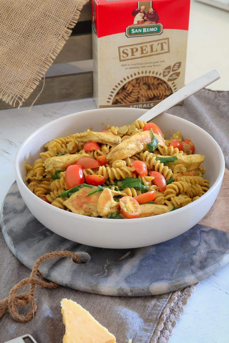 This delicious One Pot Creamy Pesto Chicken Pasta is the perfect midweek meal. Family-friendly, quick and easy... does it get any better than that!?