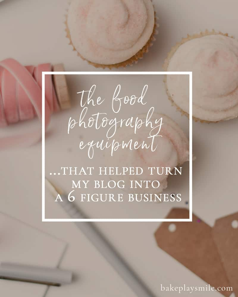 Want to know the best food photography equipment for food bloggers? Here's a rundown on the photography equipment I use... and how it's helped me grow my blog to over 500K views a month and into a 6-figure business.