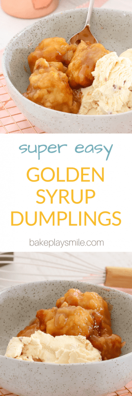 Homemade golden syrup dumplings are so simple to make... you won't be able to resist these fluffy dumplings smothered in sweetsyrup and served with ice-cream or custard.