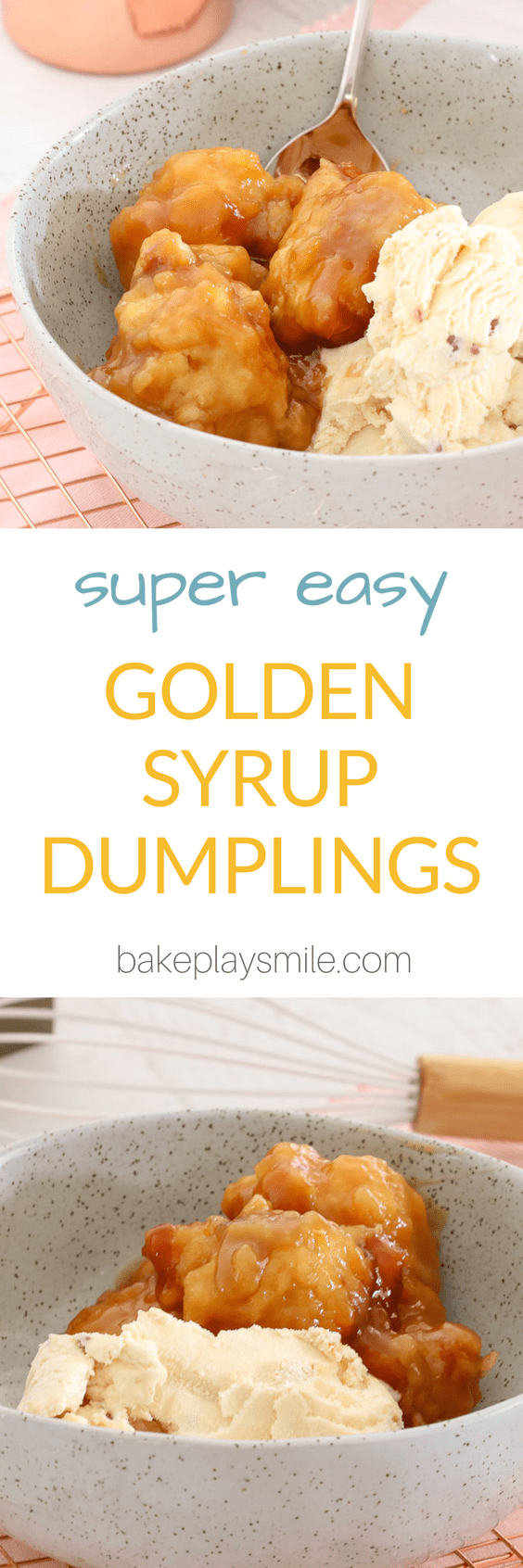 These super easy golden syrup dumplings are sure to become a family favourite! Serve hot with a big scoop of ice-cream for the perfect dessert.