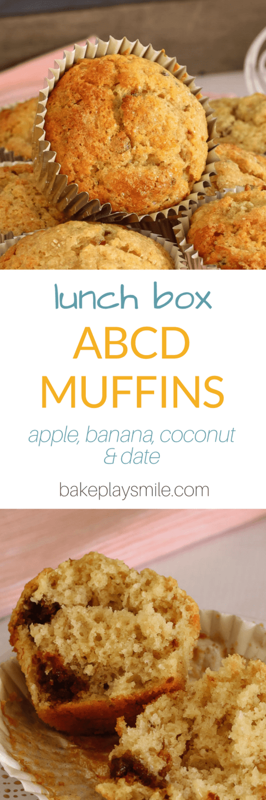 ABCD Muffins... so healthy and so easy! These muffins are packed with apple, banana, coconut and dates which makes them super moist and extra tasty!